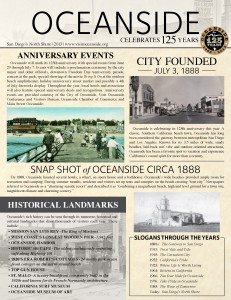 Oceanside Ca History Flyer