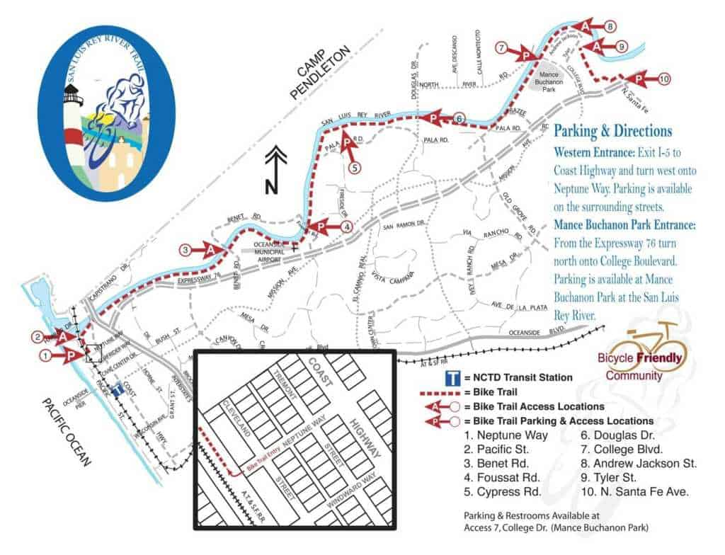 San Luis Rey Bike Trail Visit Oceanside - San luis usa map