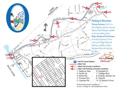 San Luis Rey Bike Trail Map _ Oeanside CA USA