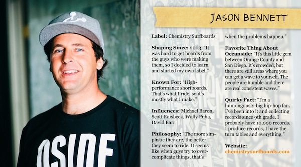 Jason Bennett - Oceanside Shaper