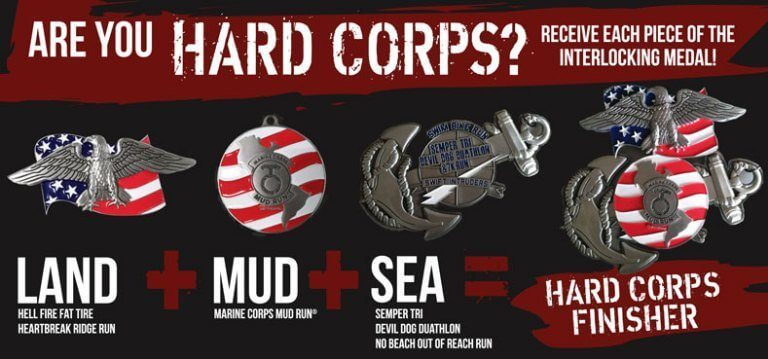 2017 Hard Corps Race Series Finisher Medals