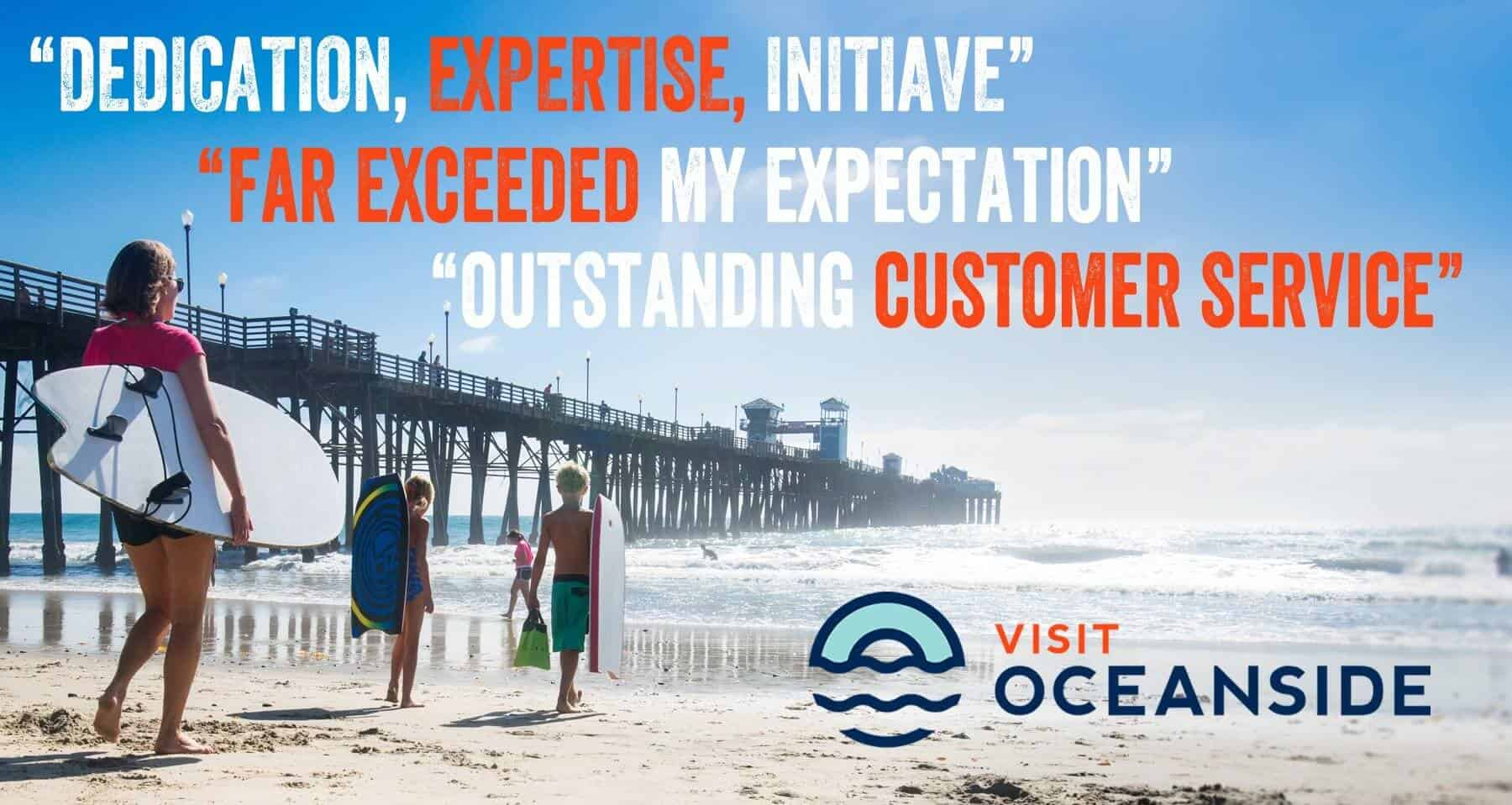Visit Oceanside Conference and Visitors Bureau Group Sales Services