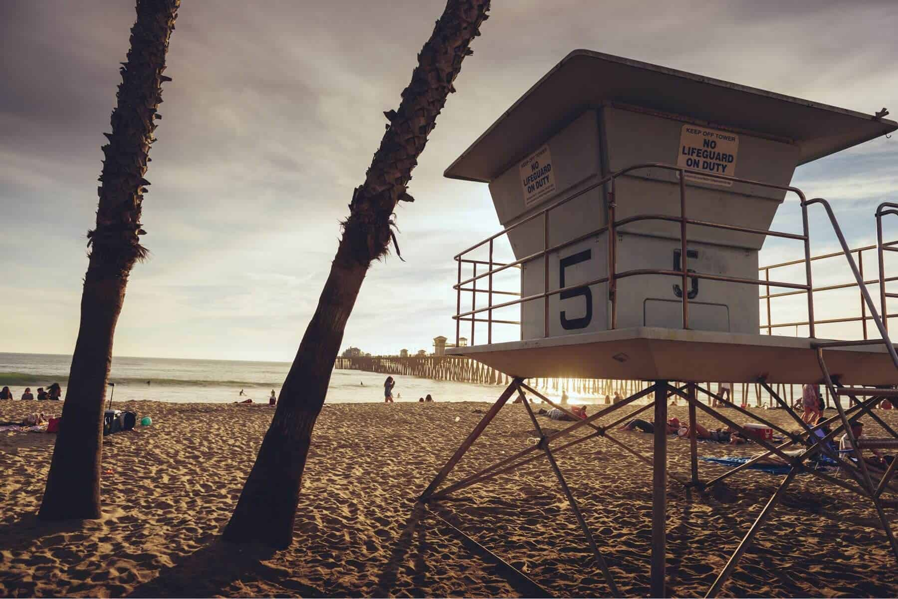 Oceanside California - Oceanside Pier - Lifeguard Tower