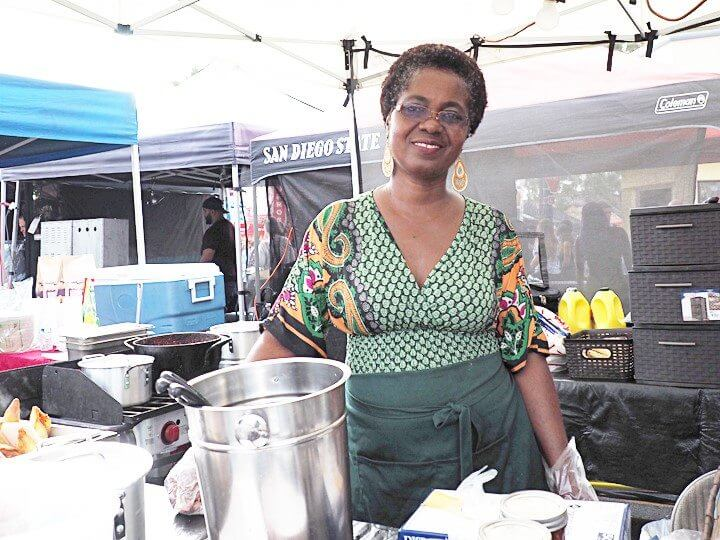 Chef and owner Olivia Laryea of Olivia's Kitchen at Sunset Market Oceanside