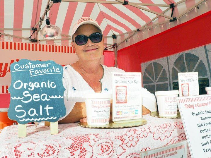 Owner Cheryl Stoner of Cheryl's Caramels at Sunset Market Oceanside