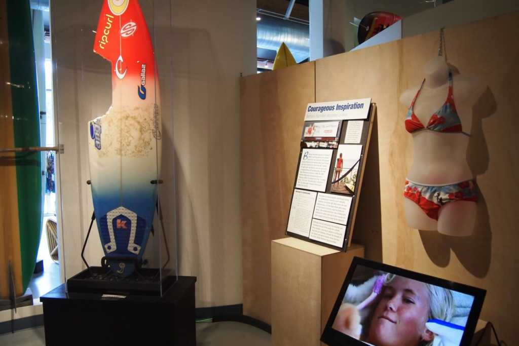 California Surf Museum Oceanside CA Bethany Hamilton exhibit