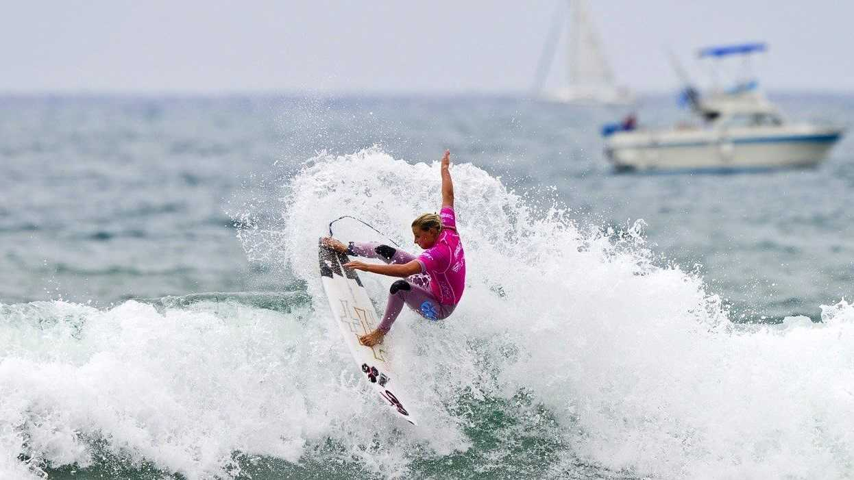 Supergirl Pro Lakey Peterson Oceanside Pier Surf Contest San Diego