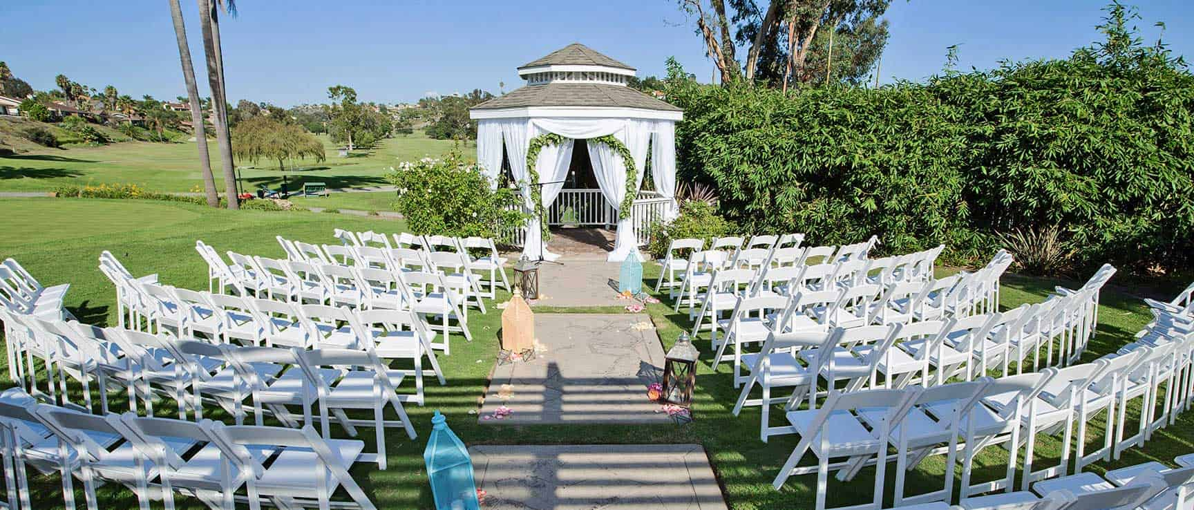 Golf course country club wedding Oceanside