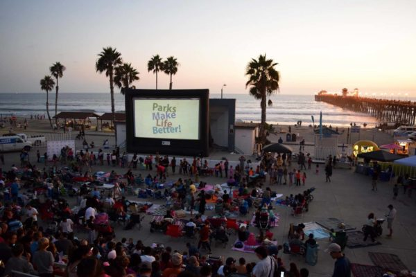 Movie at the Oceanside Pier