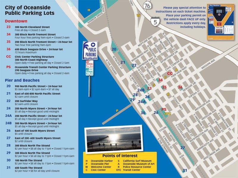 Downtown Oceanside Parking Map_ as of June 2015