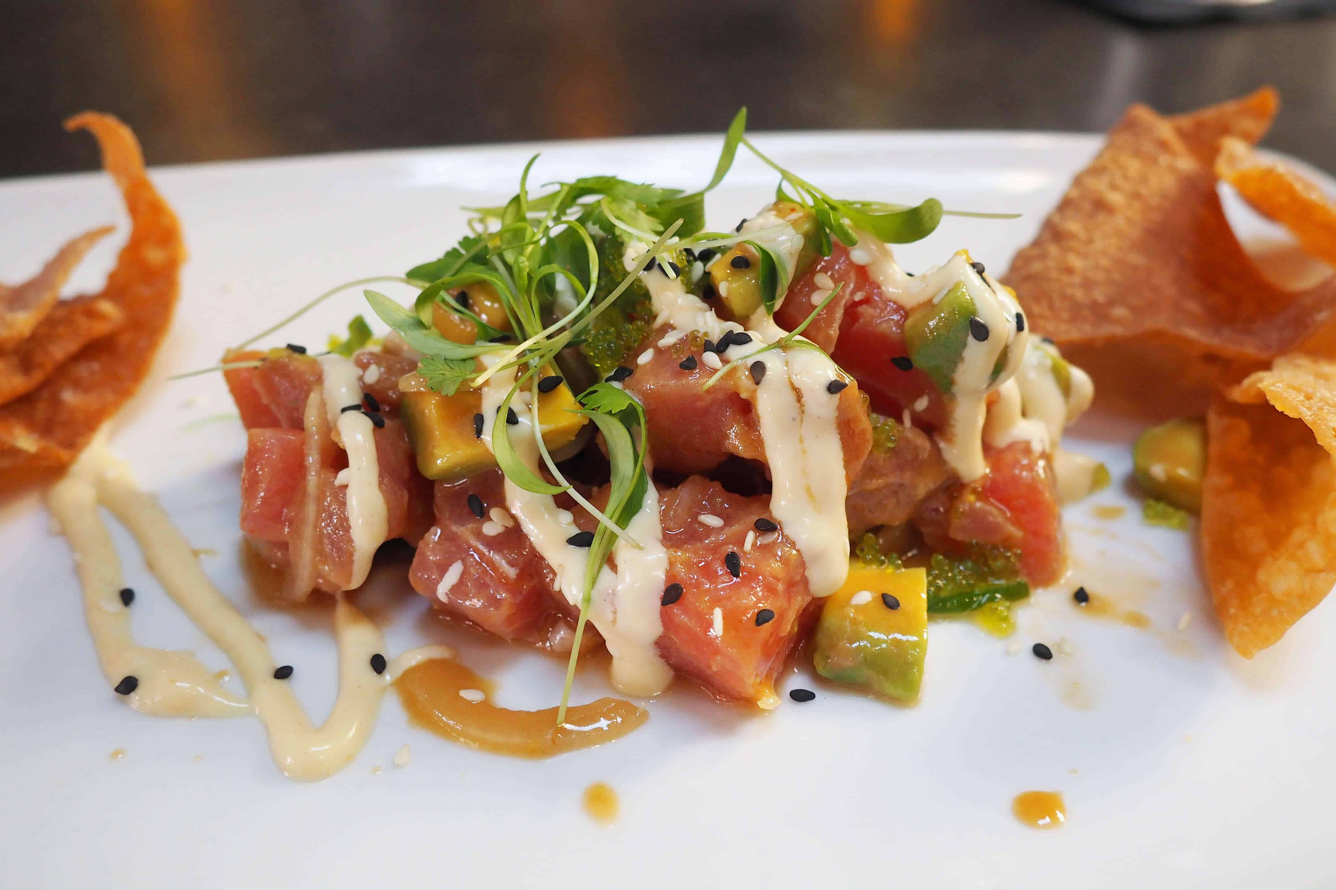 Masters Kitchen and Cocktail Ahi Poke