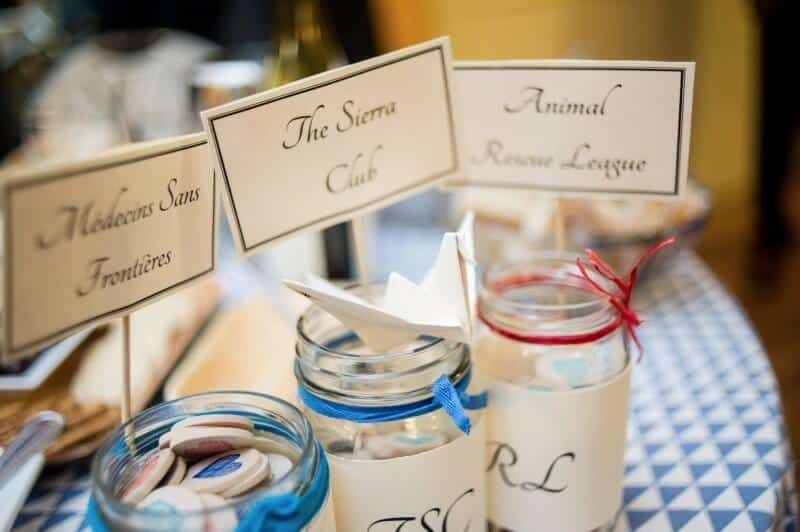 Favors for Charity Eco Friendly Wedding Zero Waste Wedding