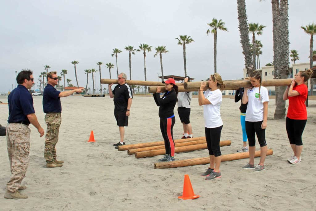 Oceanside Teambuilding Bootcamp at the Beach