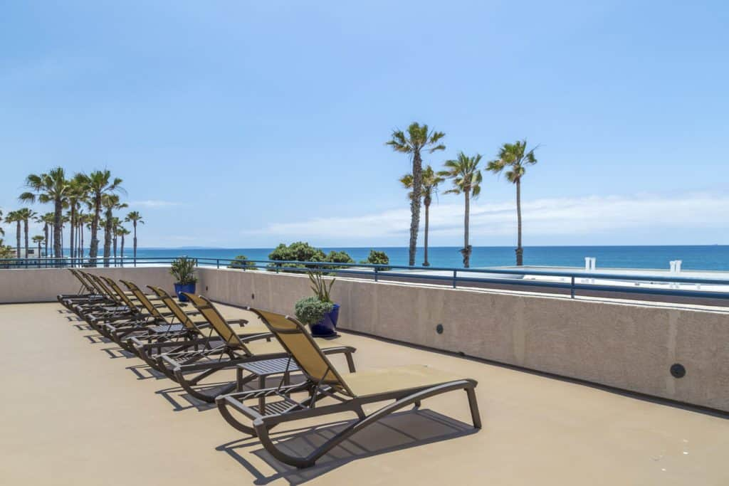 Southern California Beach Club- Patio View