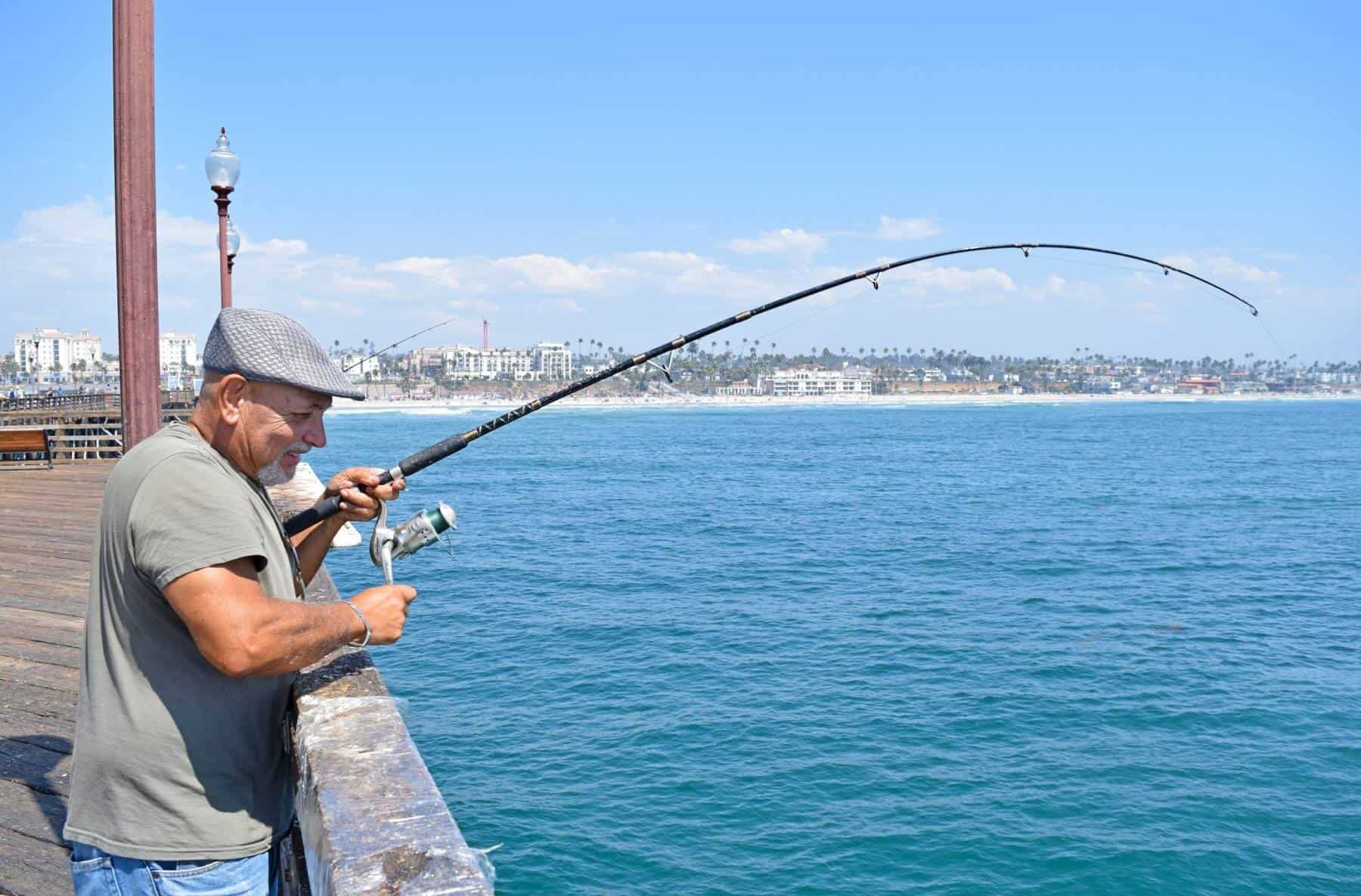 Fishing from the Oceanside Pier | Oceanside, CA