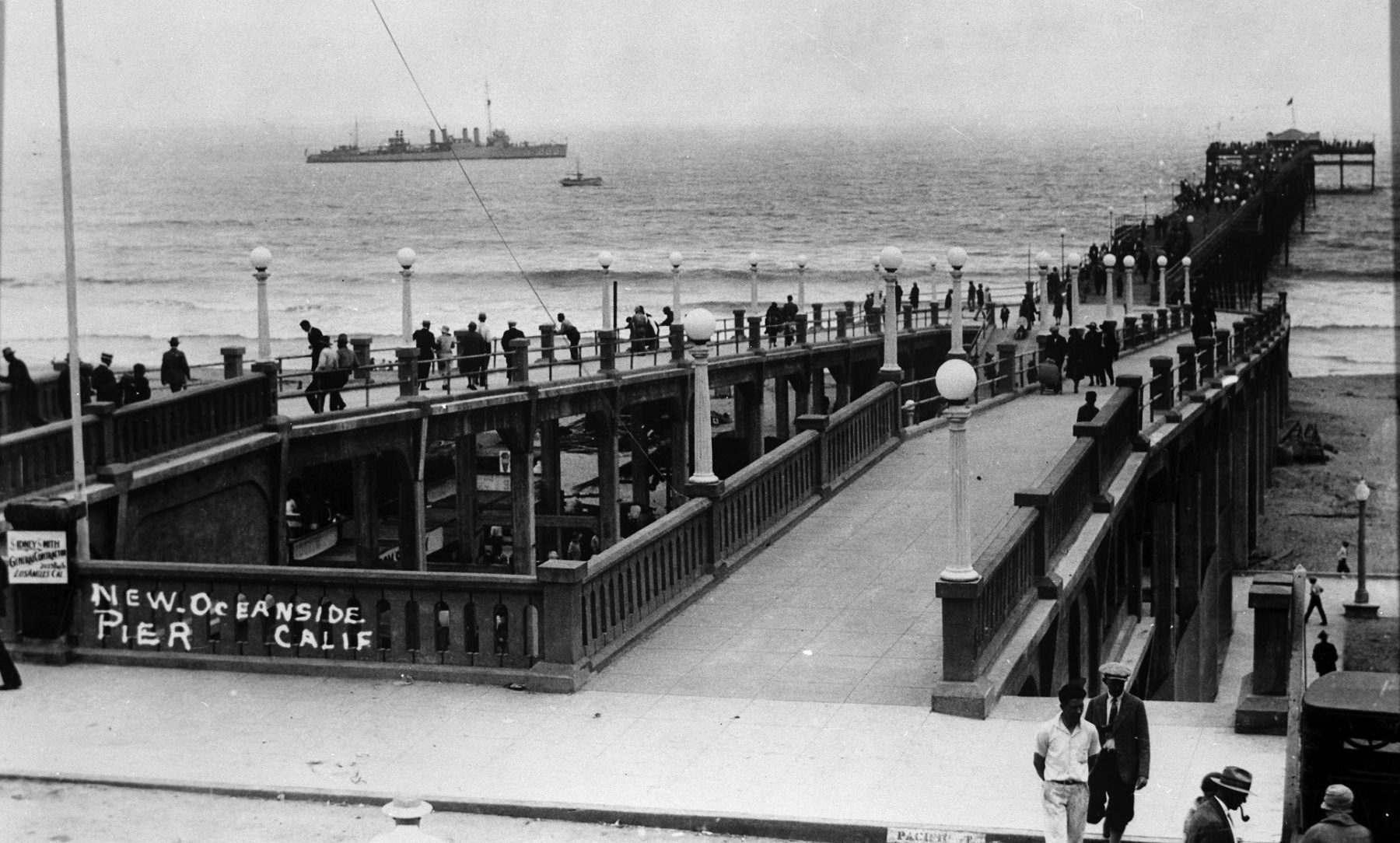 Oceanside Pier July 1927