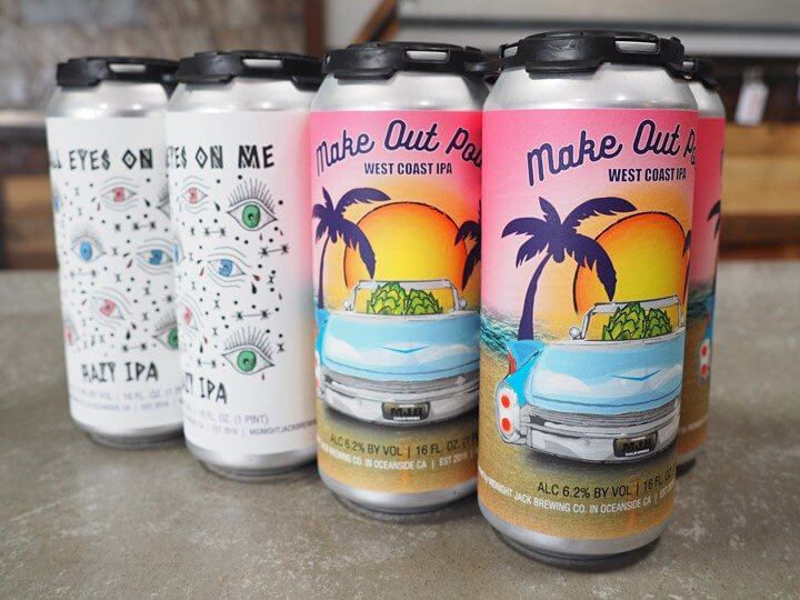 Midnight Jack Brewing Beer Cans Oceanside