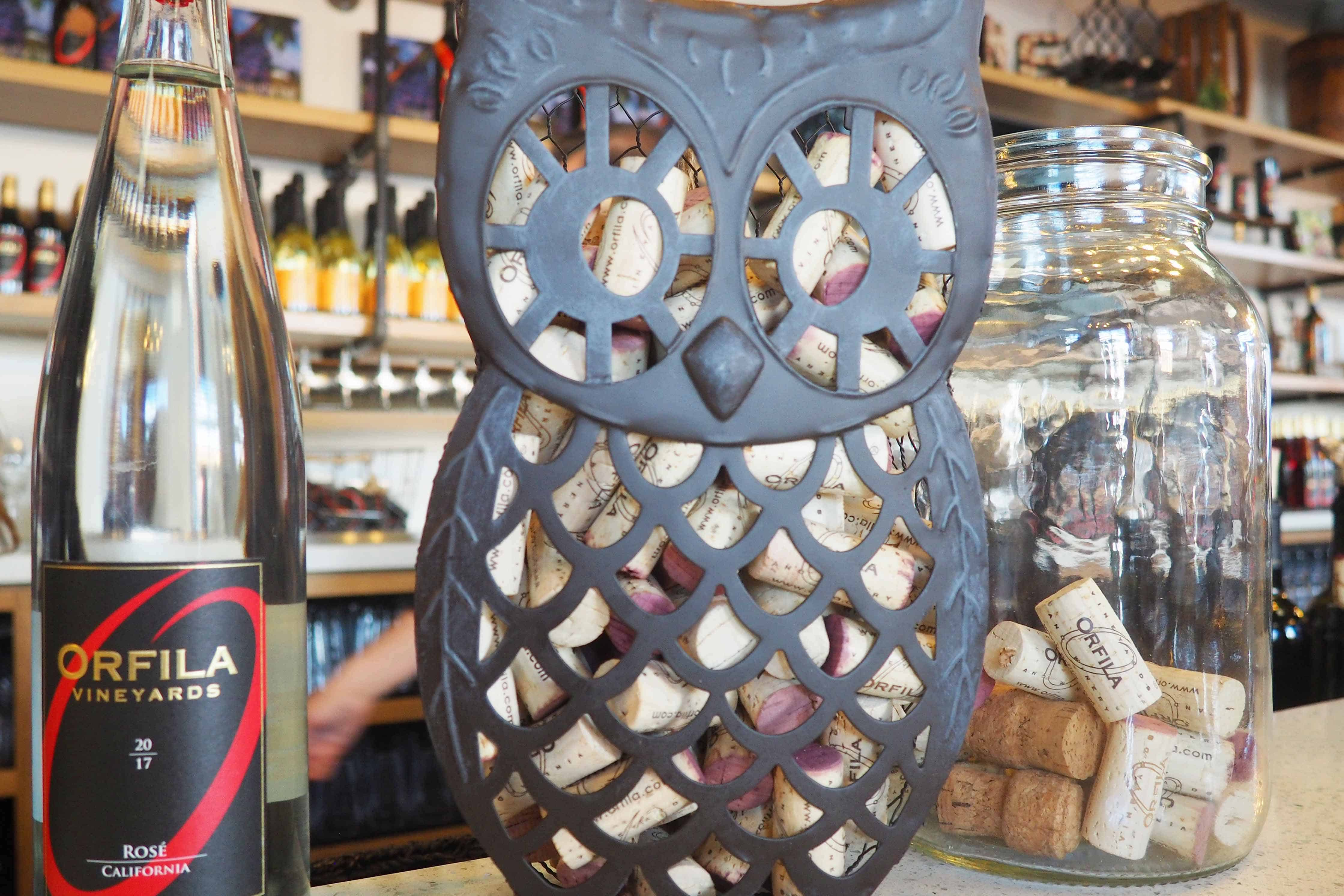 Orfila Vineyards & Winery Decorative Owl Cork Holder