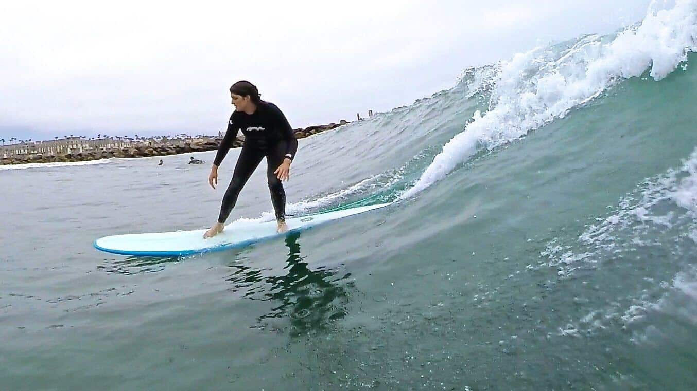 Oceanside surfing