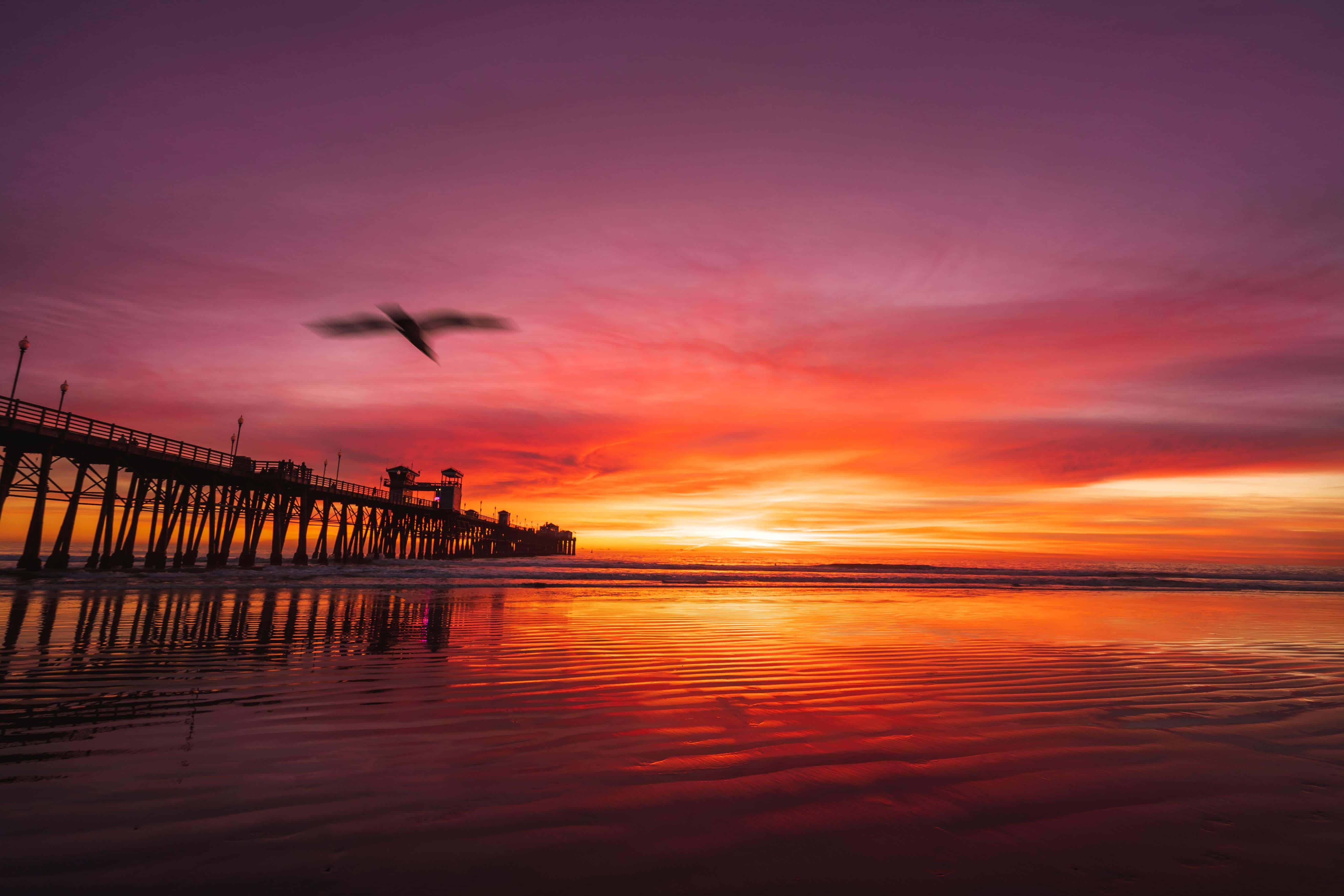 Oceanside Pier at Sunset | Beach