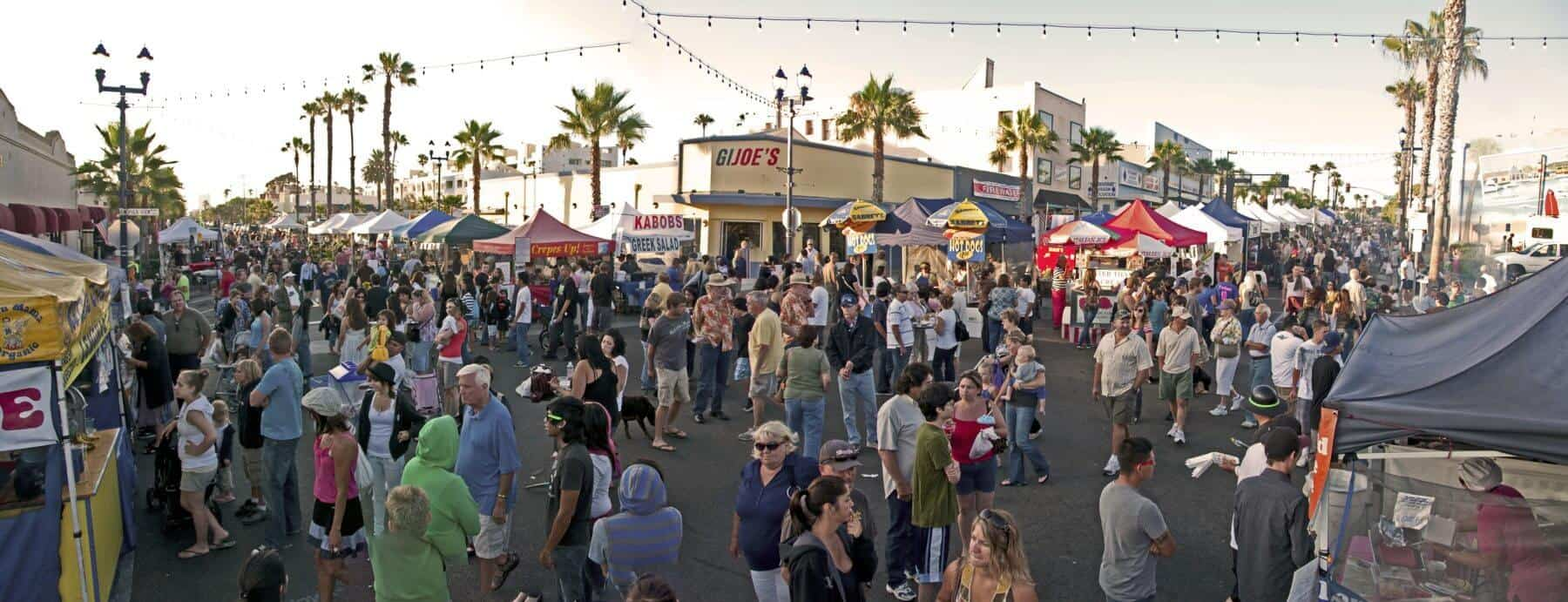 Sunset Market Panorama