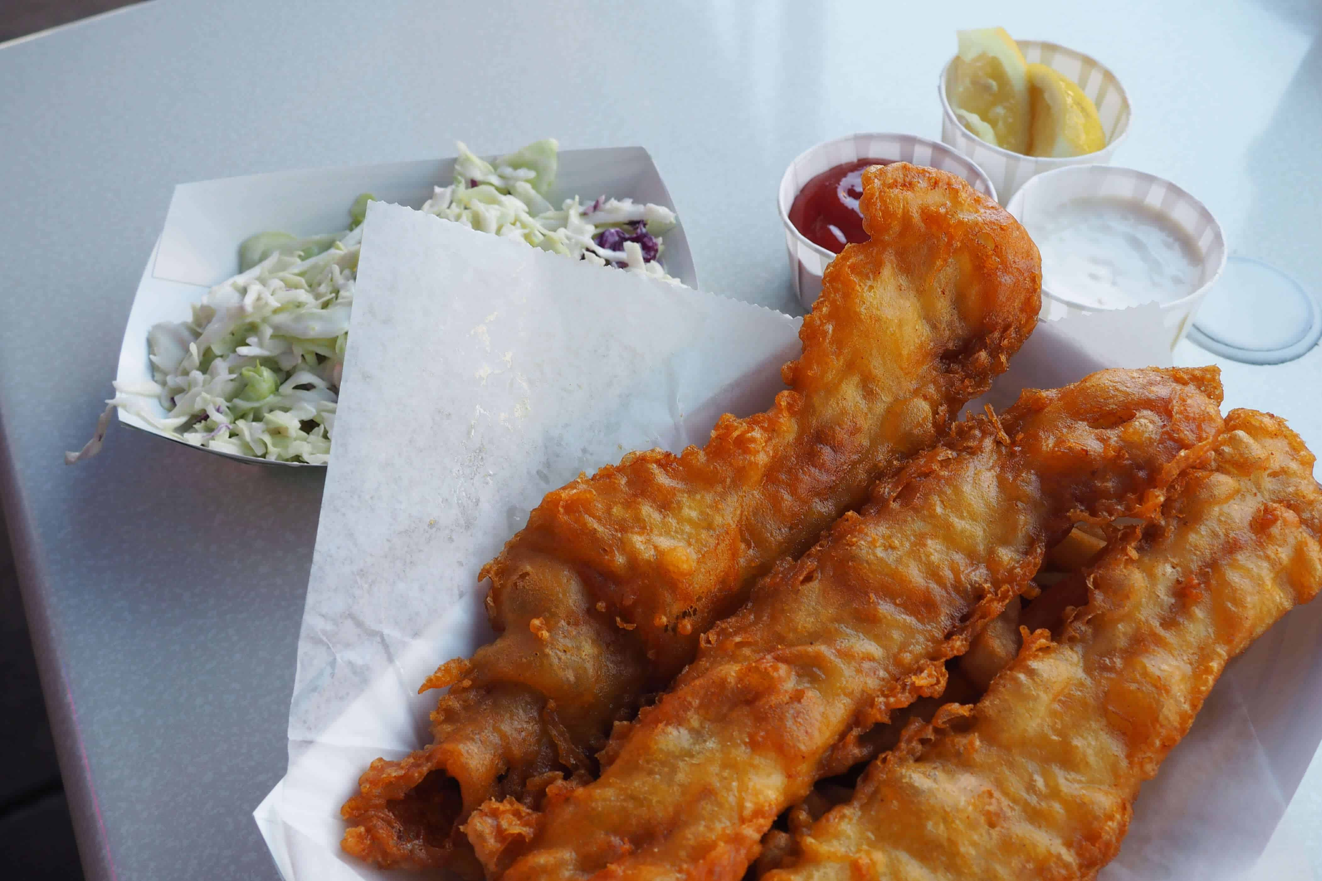 Harbor Fish & Chips Fish Basket with Coleslaw