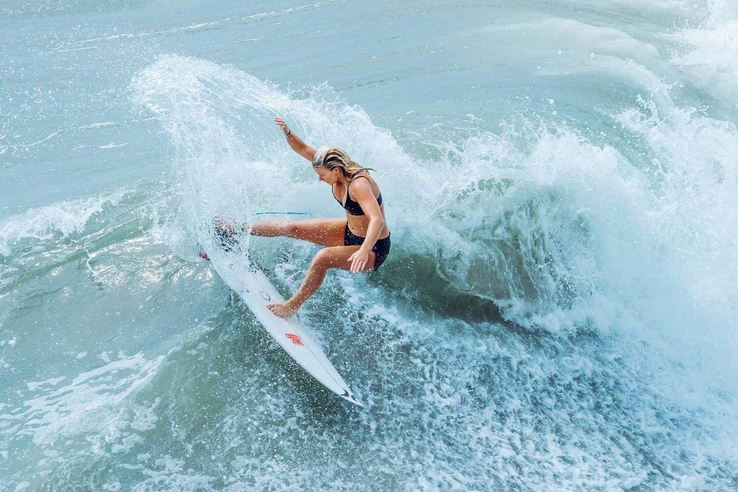 Surfing Girl Waves