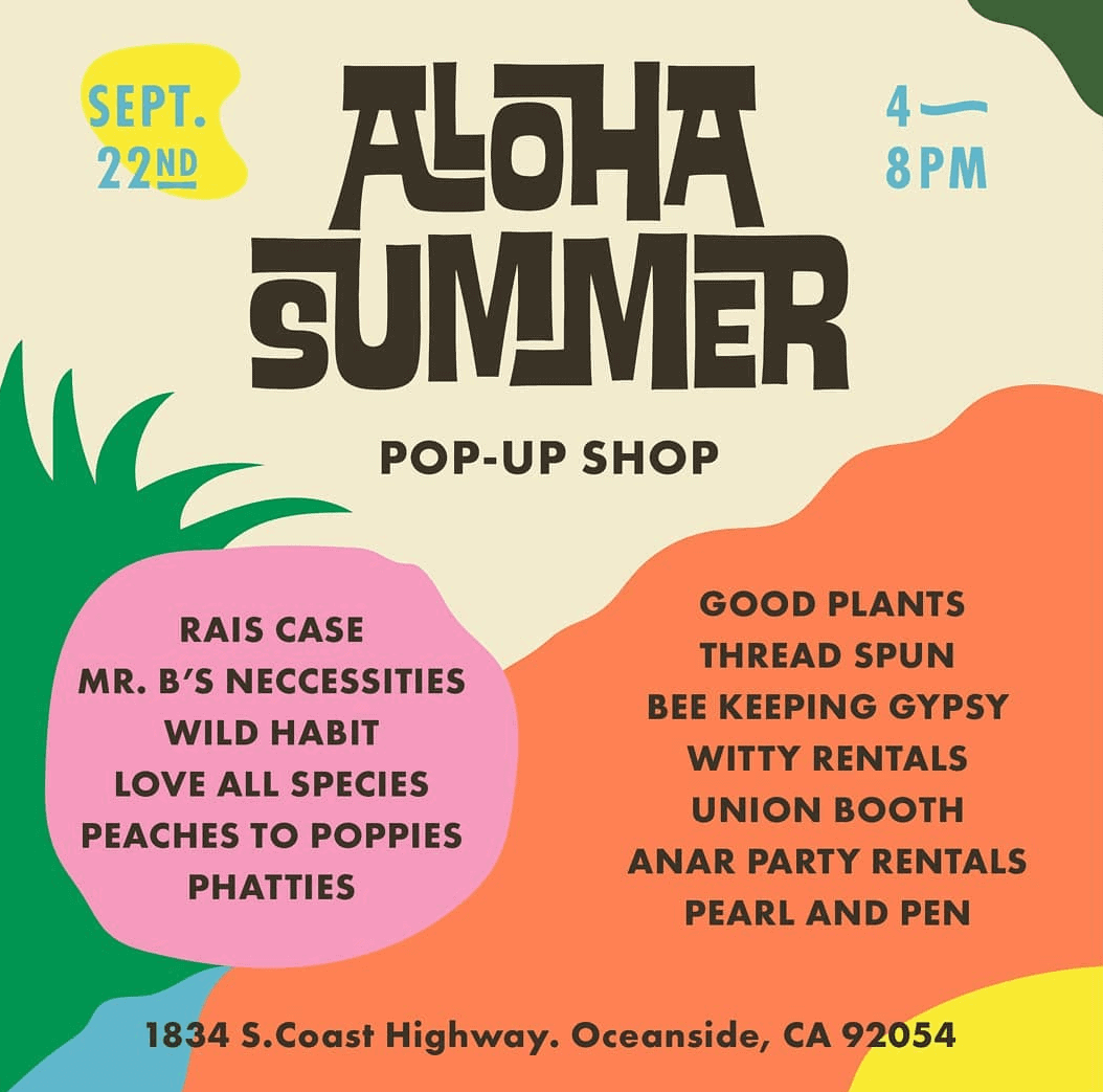 Aloha Summer Pop-Up Shop - Visit Oceanside