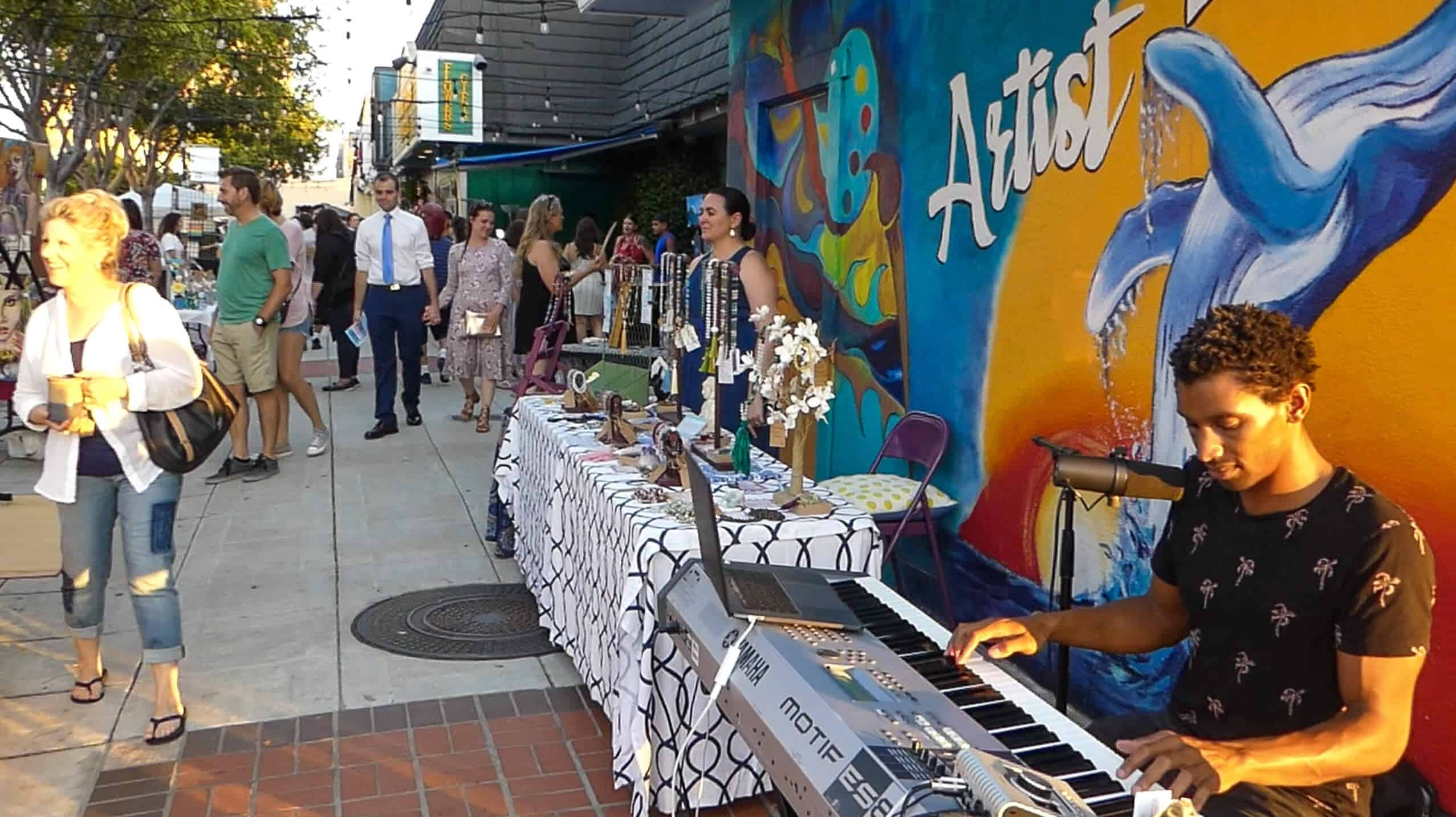 Ashon Sylvester Live Music at the First Friday Oceanside Art Walk Edit