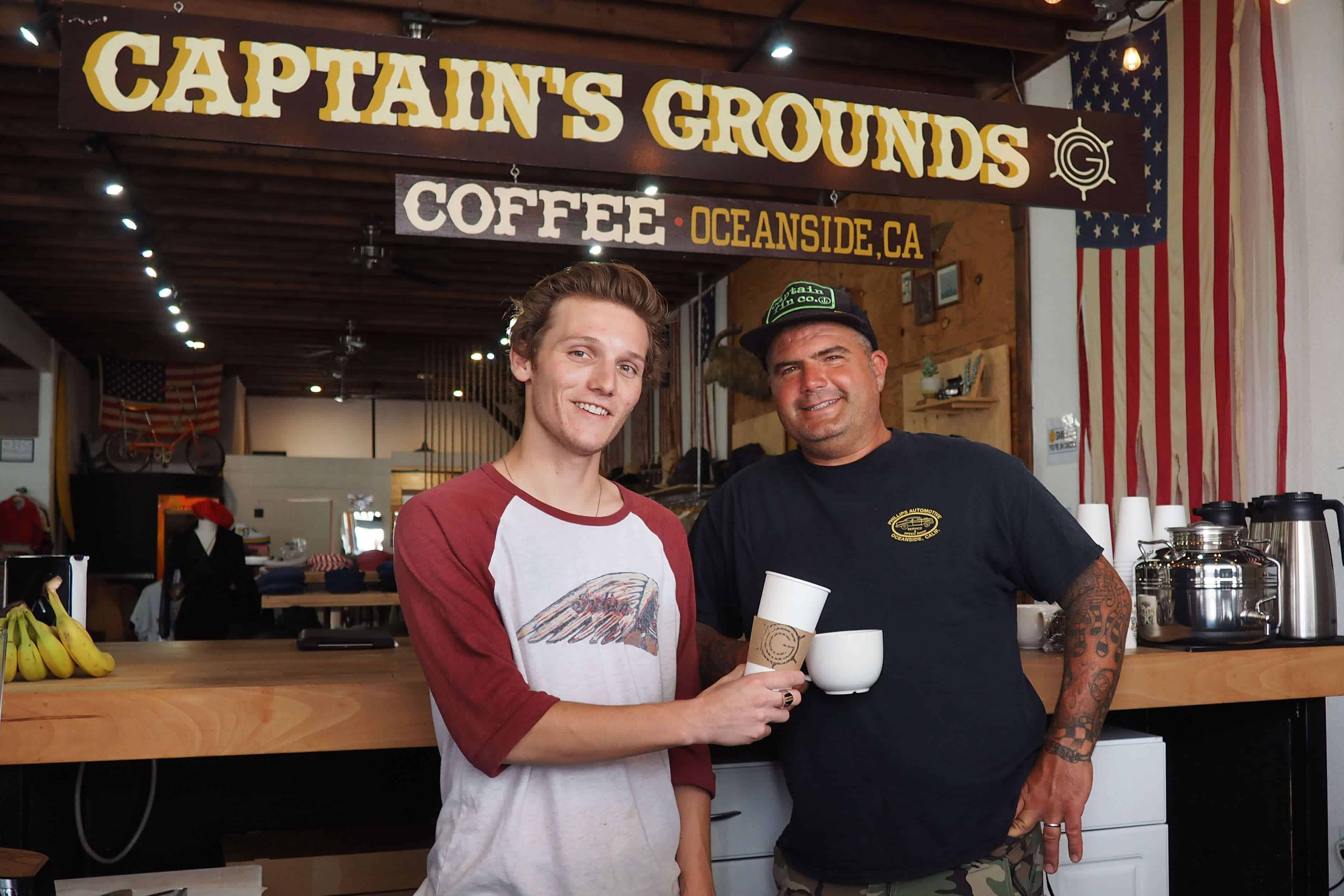 "Captain's Grounds Coffee ""Broristas"" Trent Haaland and Ted Stoddard"