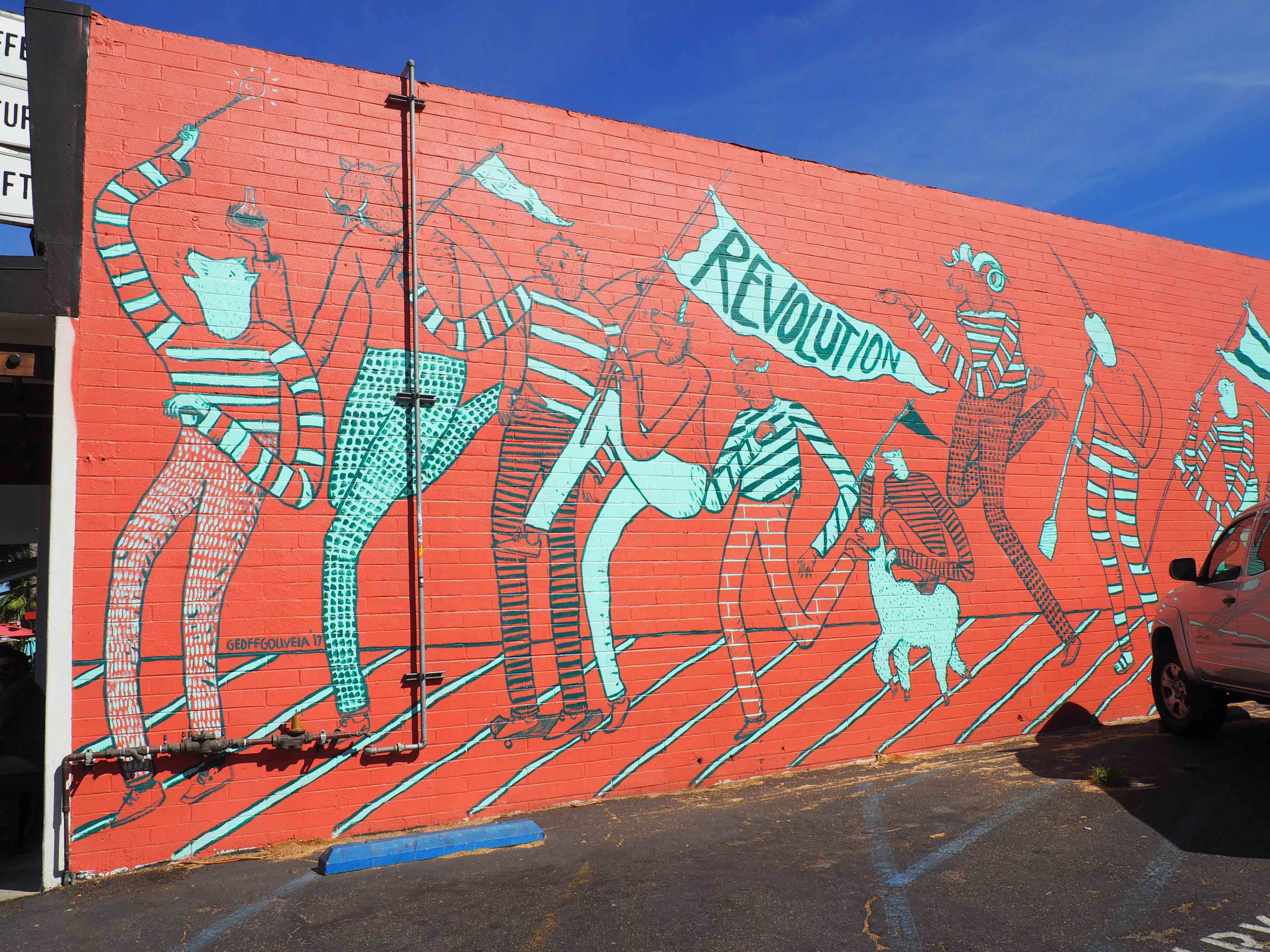 Revolution Roasters Mural by Artist Geoff Gouveia