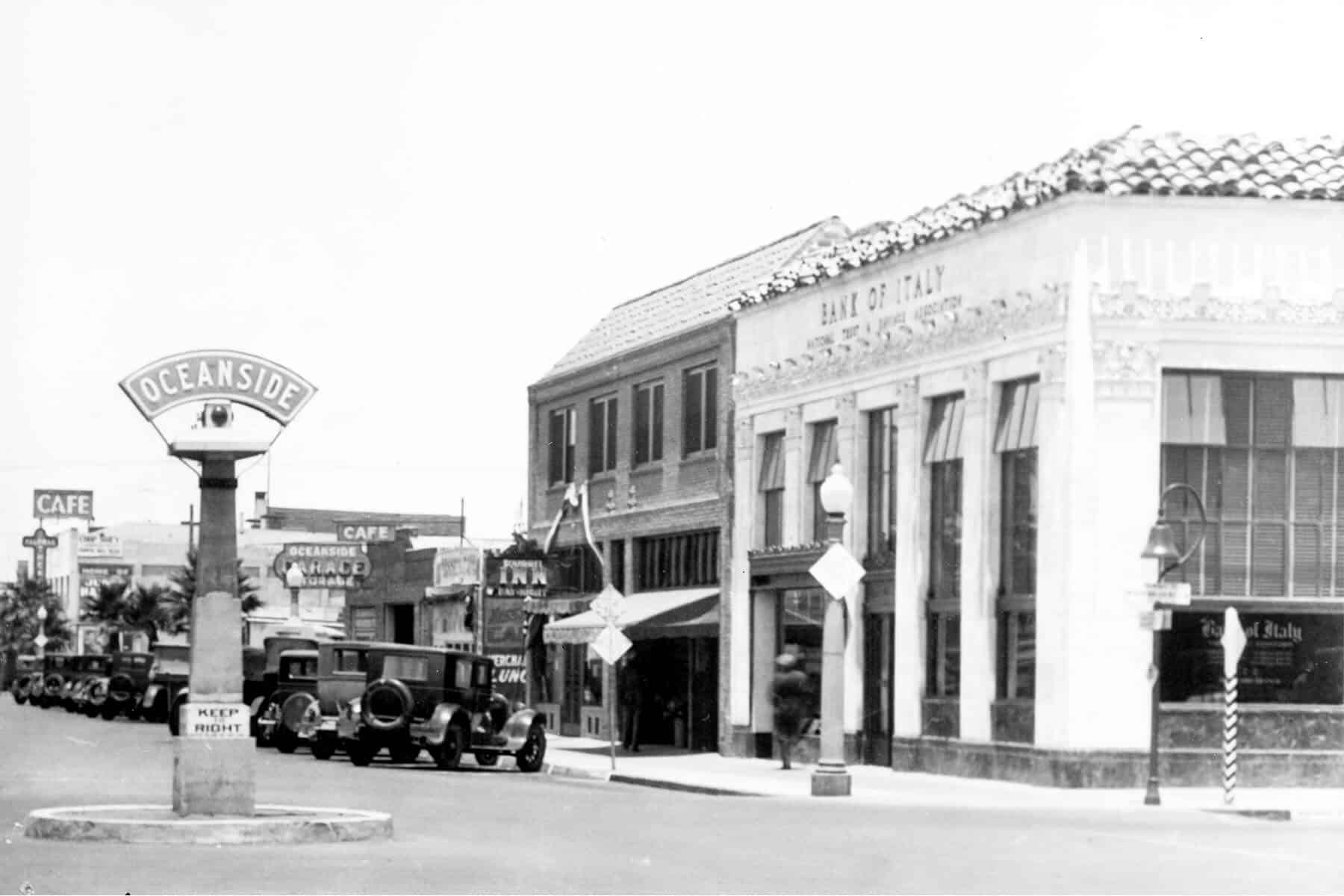 Bank of Italy on Hill Street at 2nd Street | Oceanside Historical Society