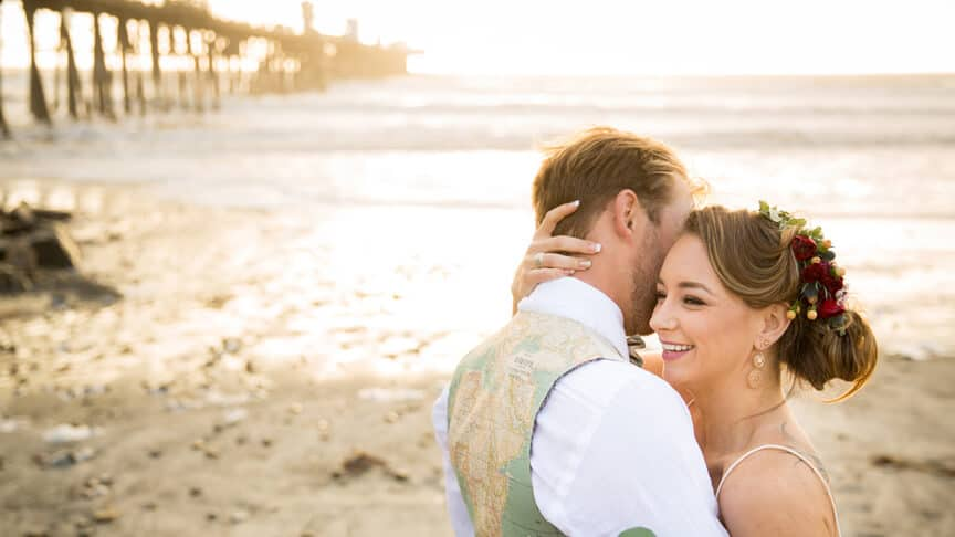 310c57eee2 Oceanside Beach Wedding Southern California San Diego Ashley Strong Wedding  by ABM Photography