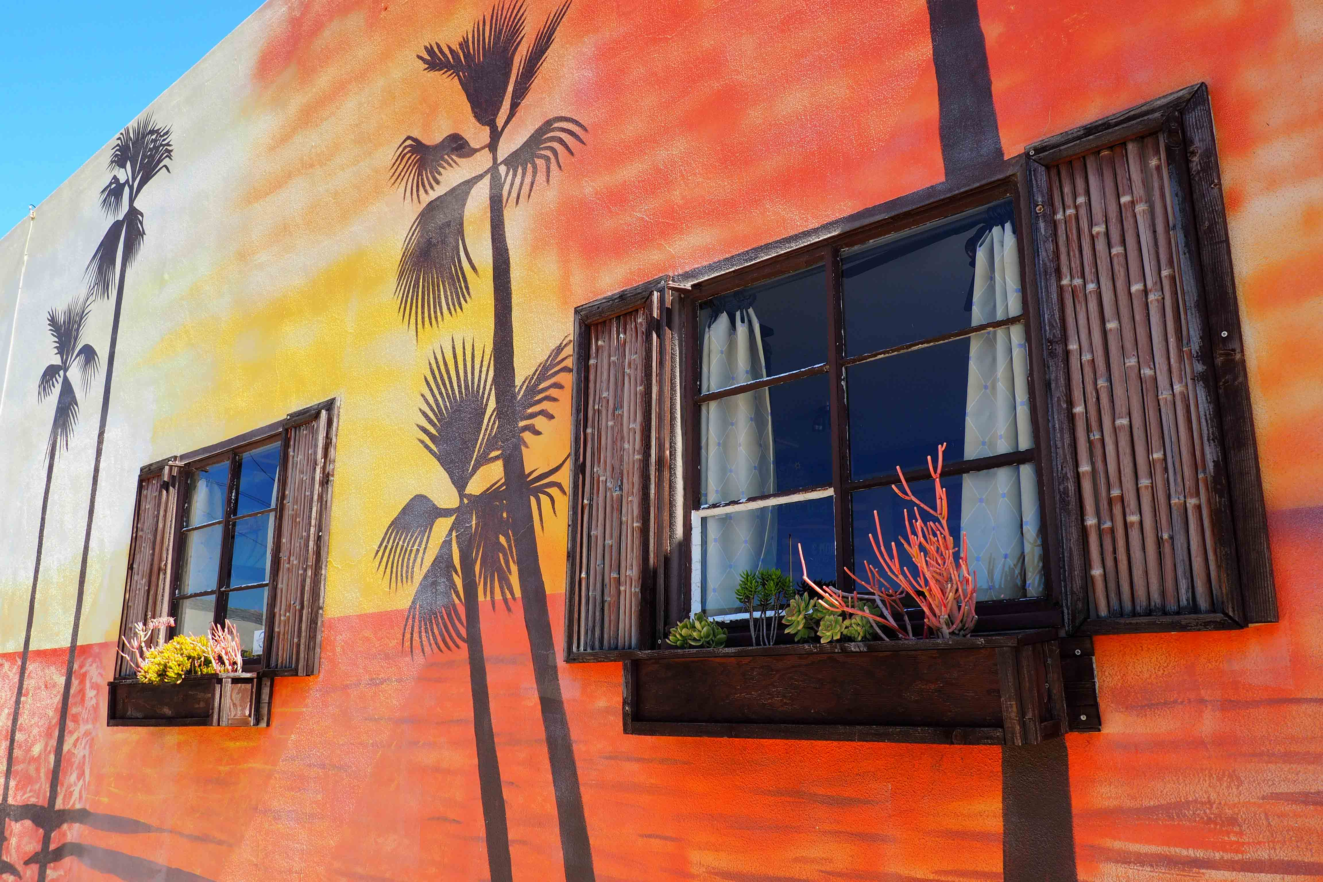 Living Tea Brewing Company Outdoor Sunset Mural