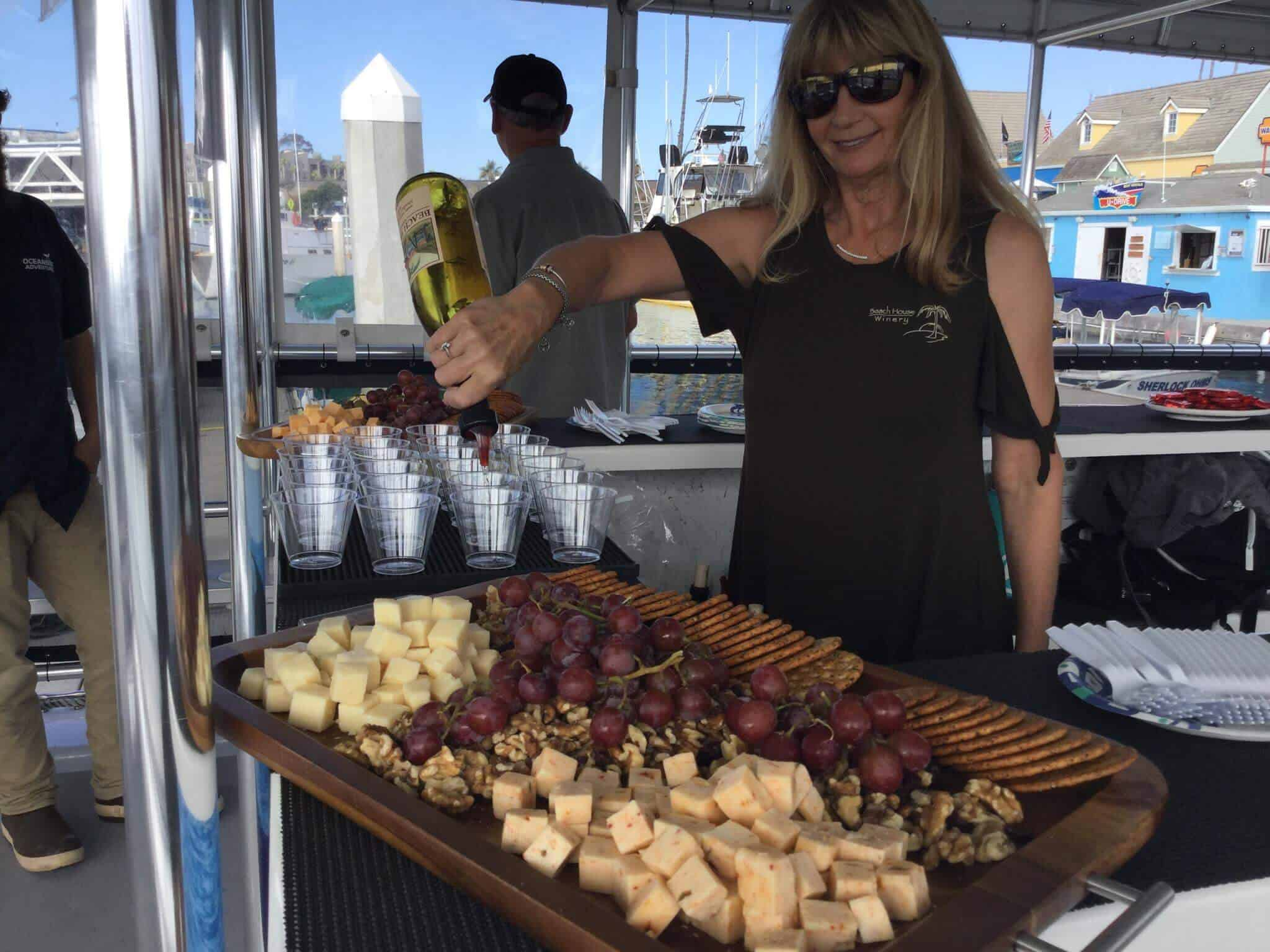 Harbor Wine Cruise with Beach House Winery and Oceanside Adventures