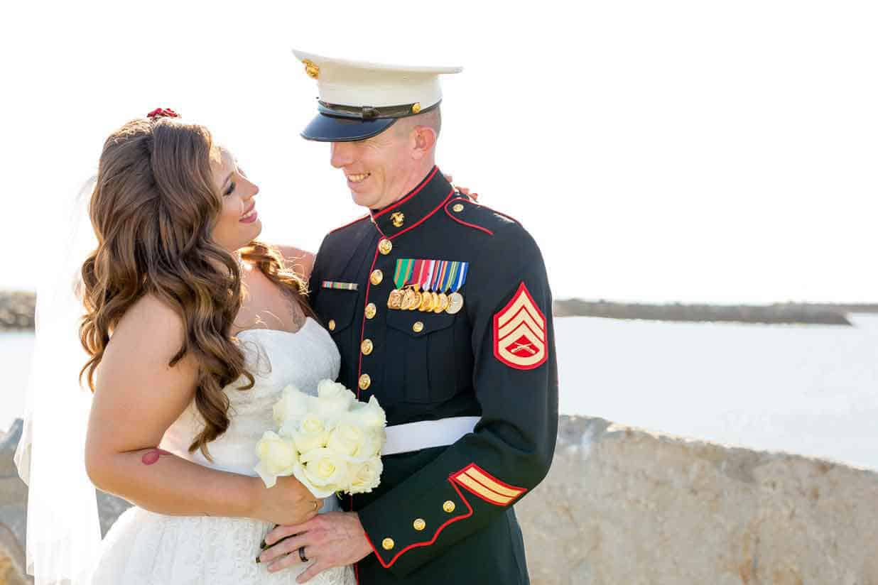 Oceanside Military Wedding Copyright Lavish Lark