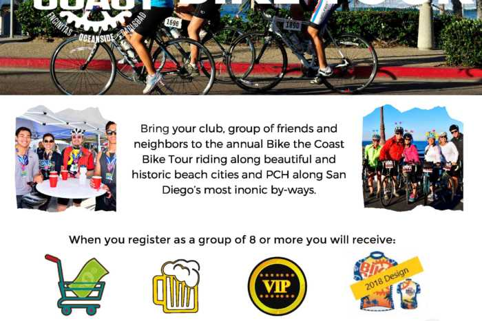 Bike the Coast Group Sales Offer
