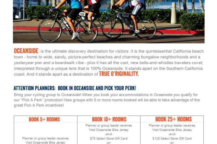 Visit Oceanside Cycling Incentive Program Pick a Perk