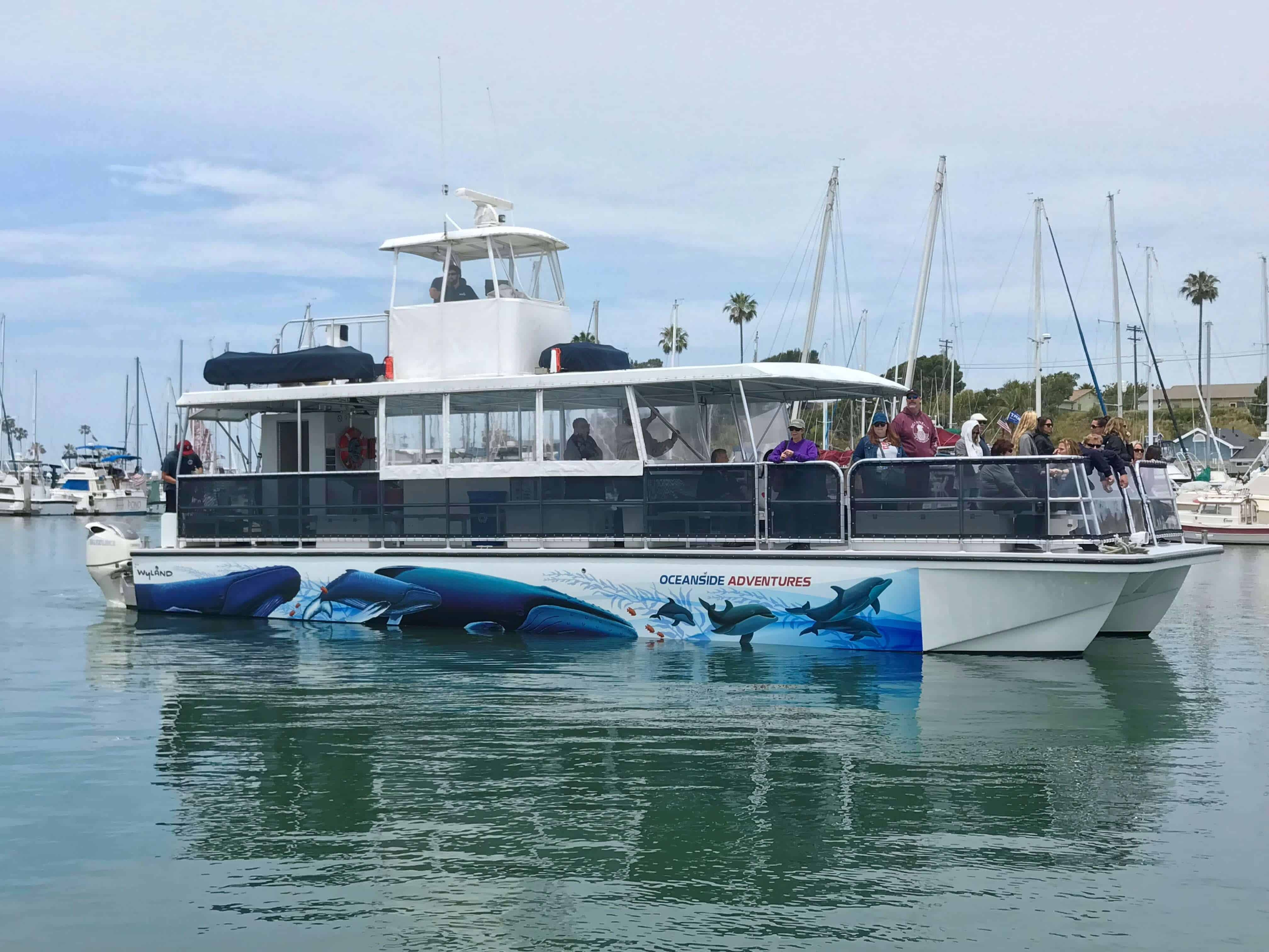 Oceanside Adventures Wyland Boat Graphics