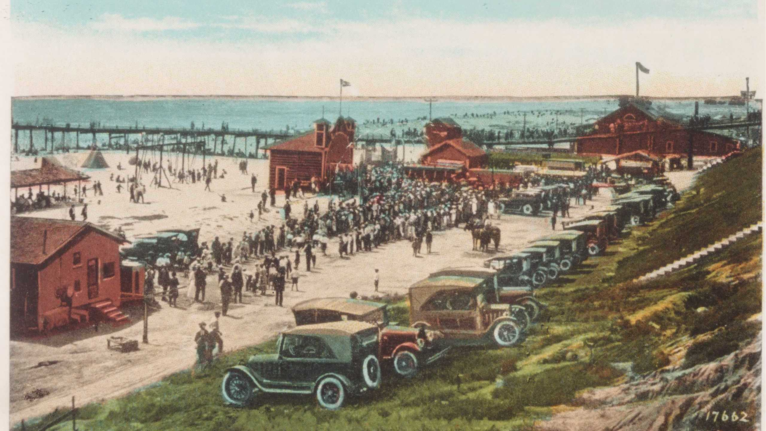 1924 Historical South of the Oceanside Pier and bandshell