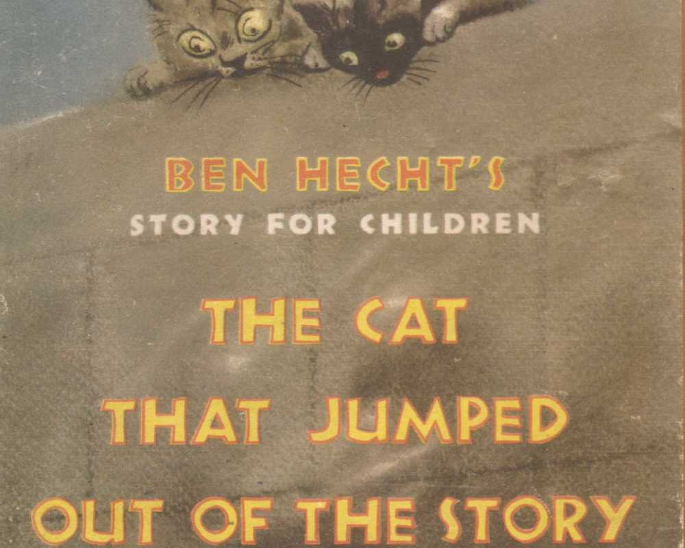 Cover of the children's book Ben Hecht wrote about a cat that lived in Oceanside, 1947