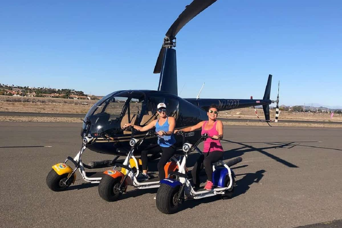Ride Oside and Waverider Helicopter Tours
